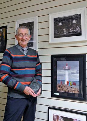John McShane, prizewinner in the Michael Edwards exhibition 2017.