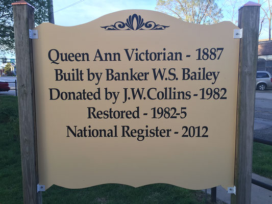 back side of exterior sign