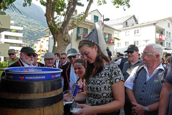 Jetzt ein kühles Bier spendiert von der Feldschlösschenfee