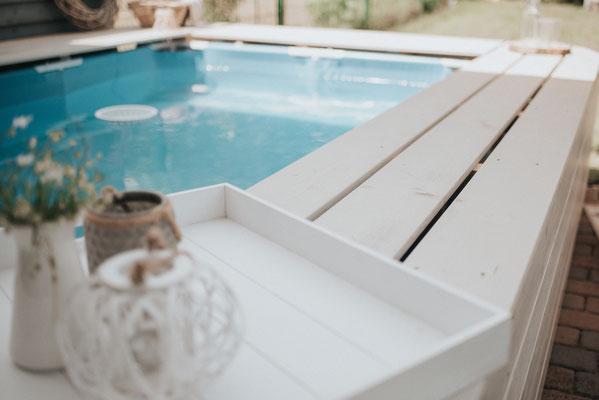 poolumrandung seberbauen Bauanleitung DIY garten Pool bauen Intex bestway stahlrahmenpool aufstellpool