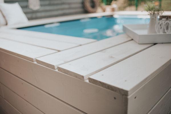 poolumrandung selberbauen Bauanleitung DIY garten Pool bauen Intex bestway stahlrahmenpool aufstellpool