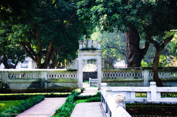 temple of literatur in Hanoi