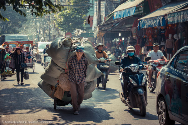 in the roads of Hanoi