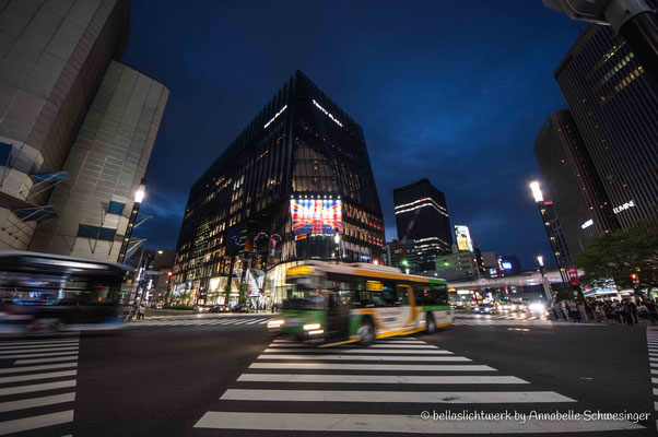 streets of Ginza at night