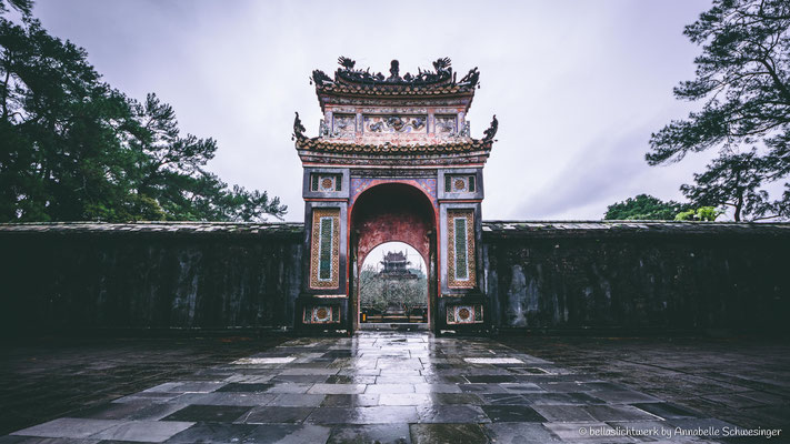 tombs of the emperors in Hue