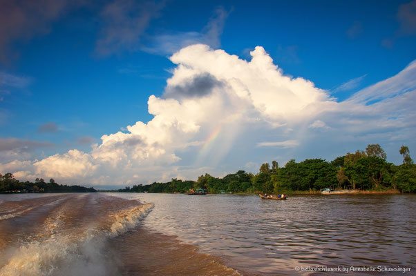 a cruise on the river Mekong