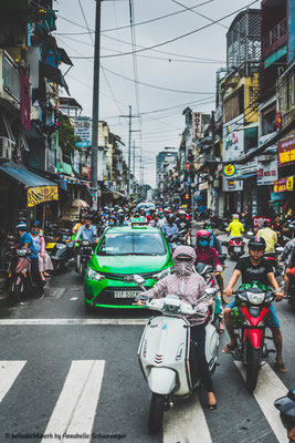 traffic of Ho Chi Minh City or Saigon