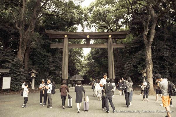 main gate to enter Meiji-Shrine