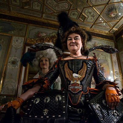 Carnival 2016: Maybe the best costume of this year; Café Florian. © Marylise Vigneau 2016