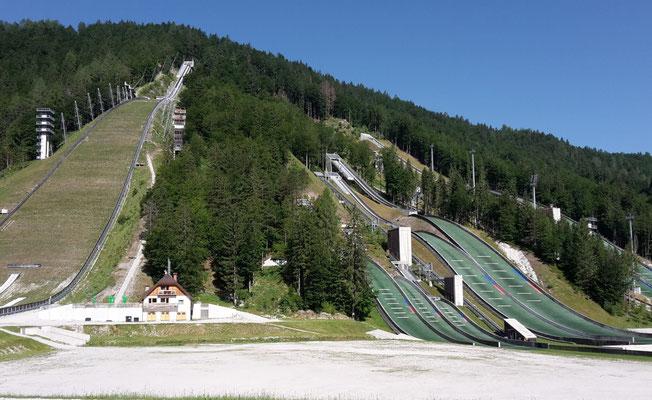 Planica, Skiflug- und Skisprungschanzen
