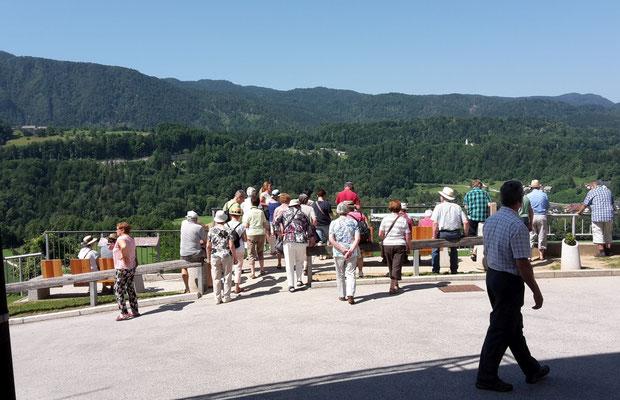 Ausblick auf die Landschaft um Radovljica