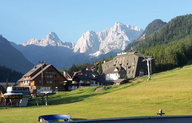 Ausblick von unserem Hotel, am Morgen