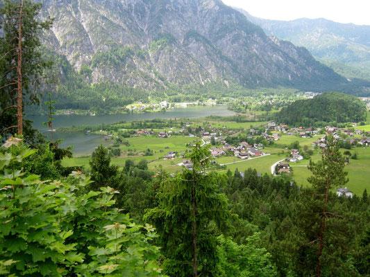 Rückreise: Rast überm Hallstätter See