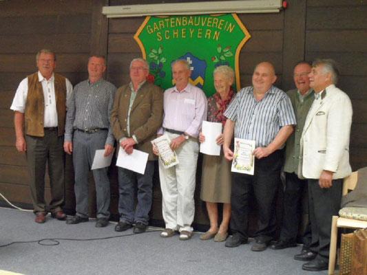 25 Mitglieder wurden für jeweils 25 Jahre Mitgliedschaft geehrt; leider konnten nicht alle dabei sein