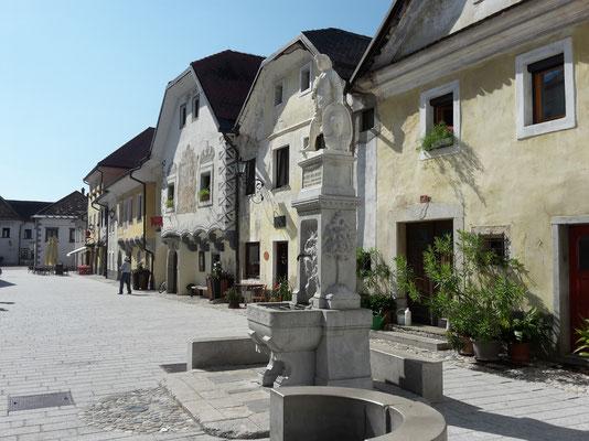 Radovljica, mittelalterliche Häuser