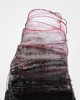 161004 - Acrylique, papier et pastel gras sur toile   81 x 65 cm