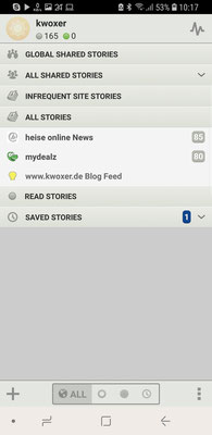 Haupt Übersicht (App)