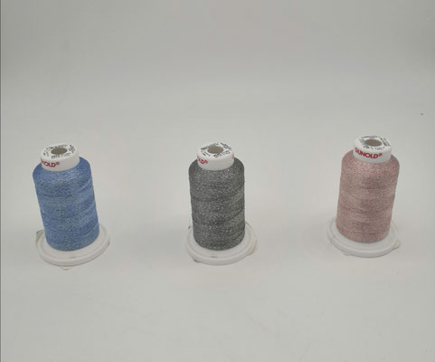 Glitzergarn - G1 blau, G2 grau, G3 rosa