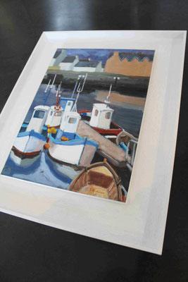 Acrylique sur papier marouflé et montée sur chassis comme une toile