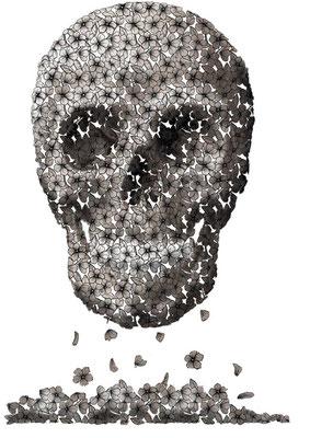 """Illustration für Ausstellung """"Religion und Tod"""""""