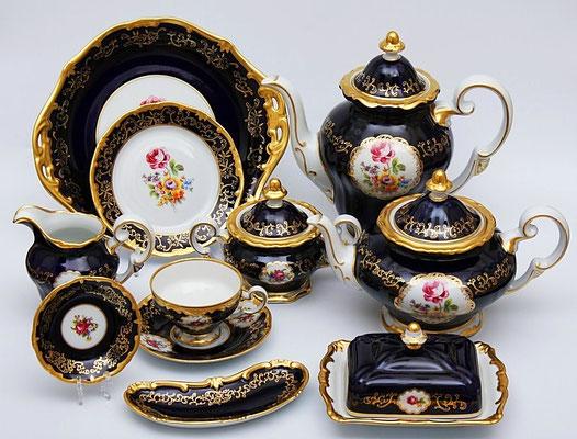Немецкая Посуда Weimar Porzellan Санкт Петербург Кобальт,Интернет Магазин МагнитХаус