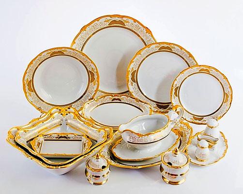 Немецкая Посуда Weimar Porzellan Симфония Золотая,Интернет Магазин МагнитХаус