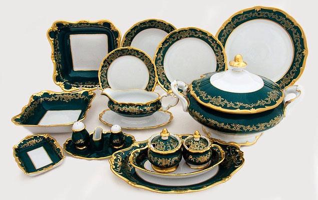 Немецкая Посуда Weimar Porzellan Ювел Зелены,Интернет Магазин МагнитХаус