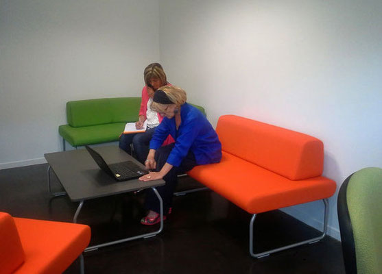 L'espace détente de l'espace co-working