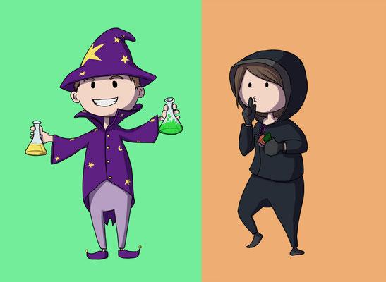 Zauberer und Dieb für unser Wer-Maki Spiel :)