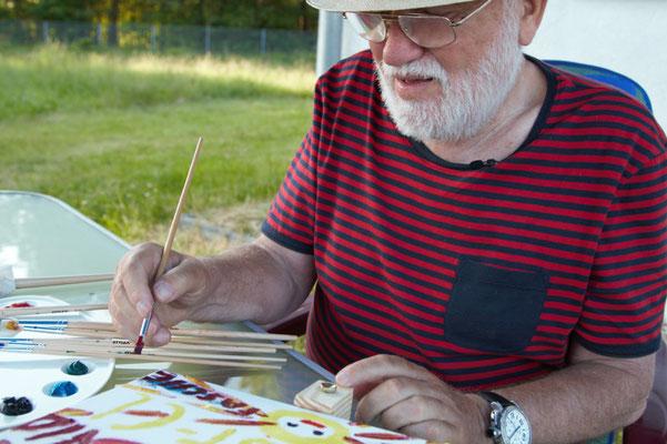 Horst bei der Arbeit in 2013 -  Horst at work in 2013.