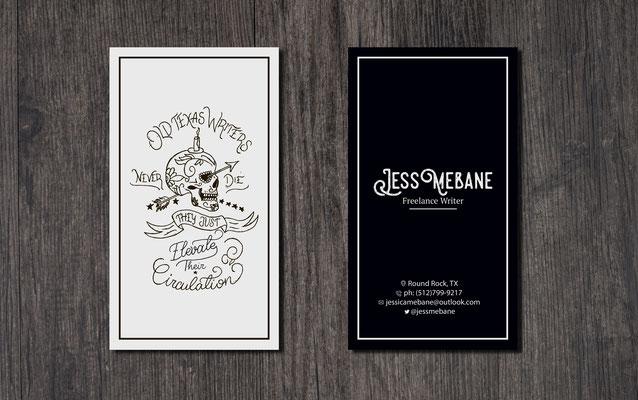 Ivan Bunin design - business card design