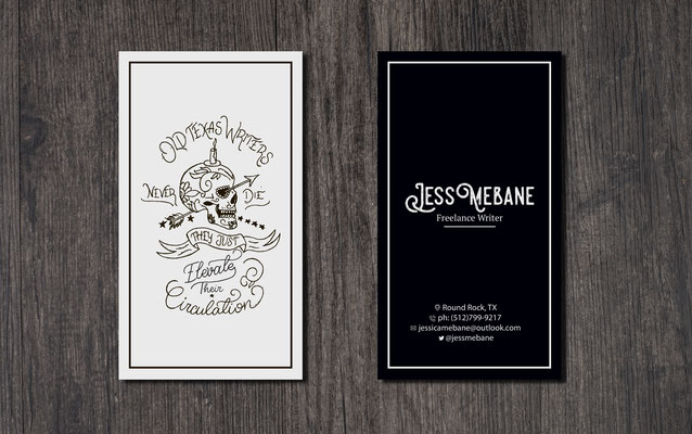 Ivan Bunin design - business card design
