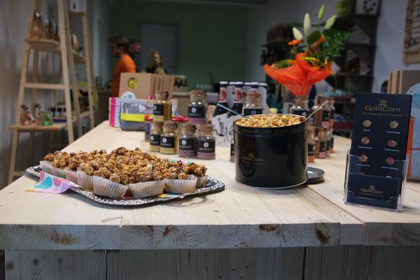Pre-Opening mit Sekt, Selters, Hopfenfänger und Goldcorn-Muffins