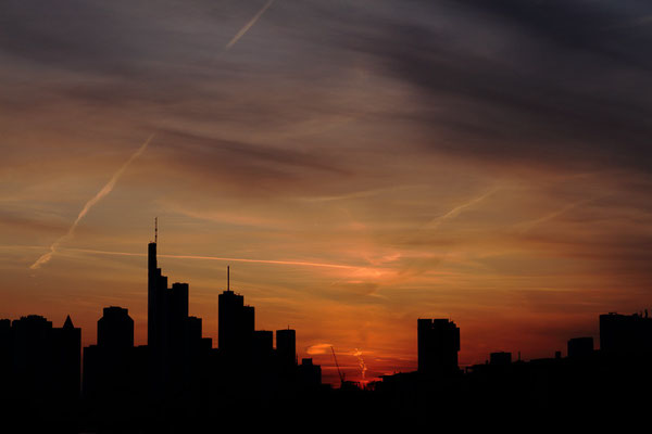 skyline von frankfurt nur siluette