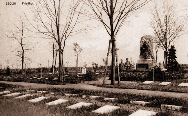 Le Cimetière allemand, Seclin en 1915