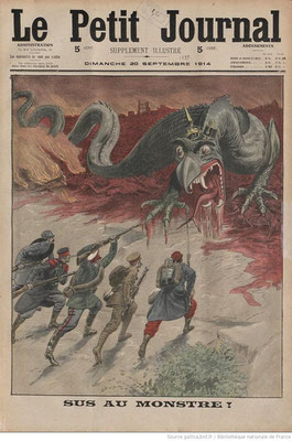 """Une du """"Petit Journal"""" du 20 septembre 1914"""