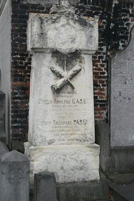 Tombe Adolphe Garez et de Benoit Parent cimetière centre Seclin