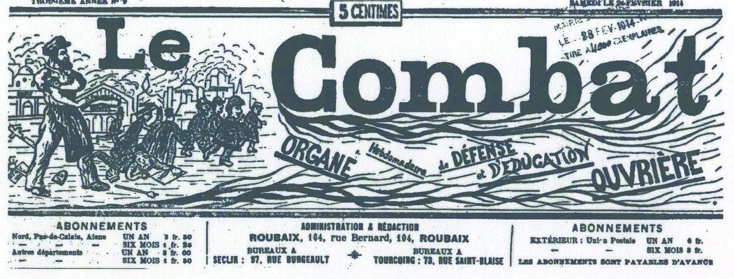 """Une du journal """"Le Combat"""""""
