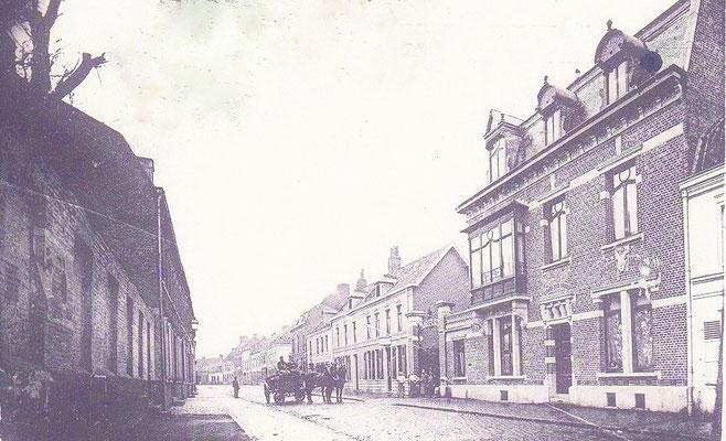 La rue Jean Jaurès, au n°20, le Kaiser a été accueilli