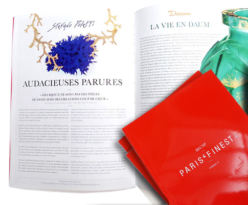 """Our AW18 Récif collection in the latest issue of Paris' Finest, an exclusive """"haute de gamme"""" magazine, available all over the world in the best luxury locations!"""
