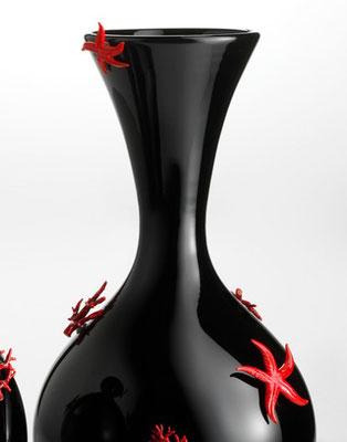 Vase Corals and Stars - Murano hand blown glass