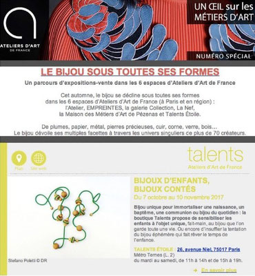 "Our Flots Collection for the exhibition ""Bijoux d'enfants, bijoux contés"""