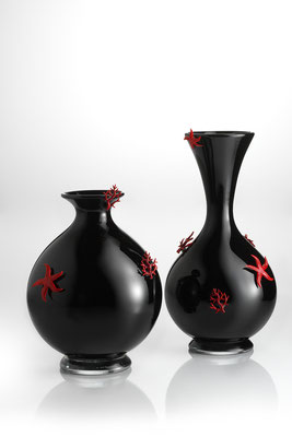 Vase Corals and Stars - Murano hand blown glass