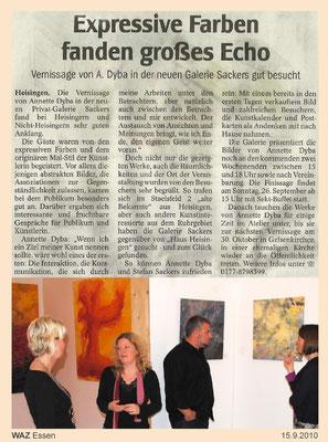 Galerie Essen Dyba Ausstellung Eröffnung