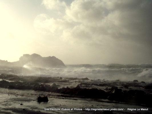 Landunvez (29) Tempête du 8 février 2016 photo RLM 2016