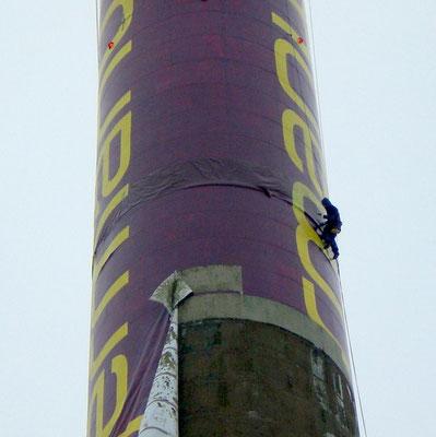 Bannerdemontage, Berufskletterer, Industriekletterer, ProRope, Dortmund, Bochum, Essen, Münster, Gütersloh