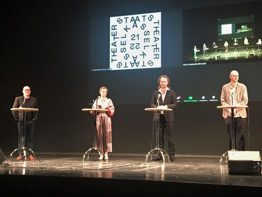 v.l.n.r.: Dr. Thorsten Teubl, Ann-Kathrin Franke, Florian Lutz, Kornelius Paede
