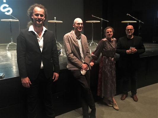 v.l.n.r.: Florian Lutz, Kornelius Paede, Ann-Kathrin Franke, Dr. Thorsten Teubl