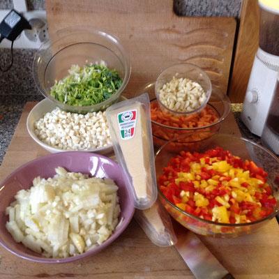 Gemüse gerüstet