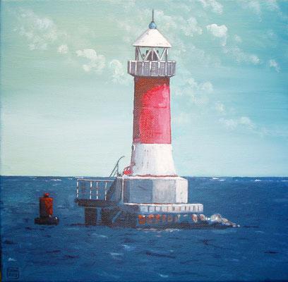 `Leuchtturm Peenemünde´- Acryl auf Leinwand, Format: 30x30 cm, 2013